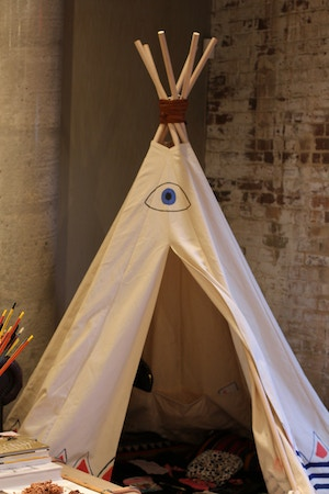 tipi kids play area