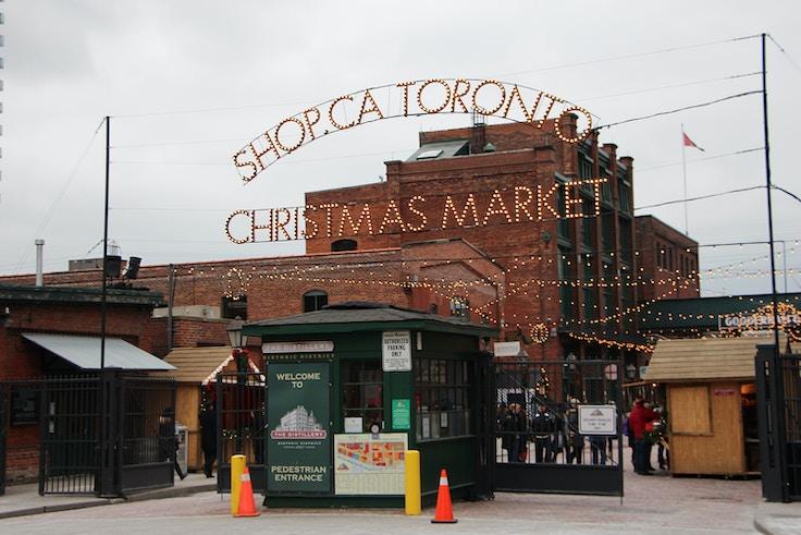 toronto christmas market entrance