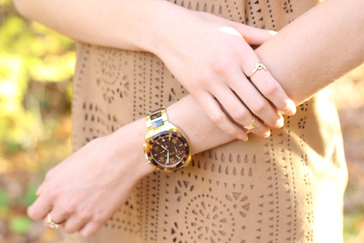 tortoiseshell watch gold rings