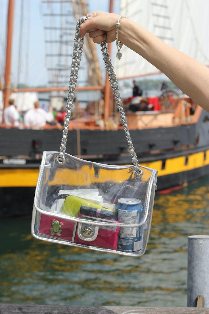 transparent chanel purse