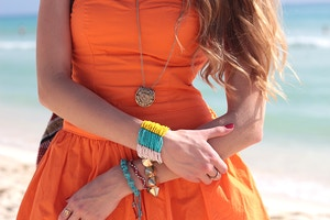 turquoise jewelry beaded bracelet