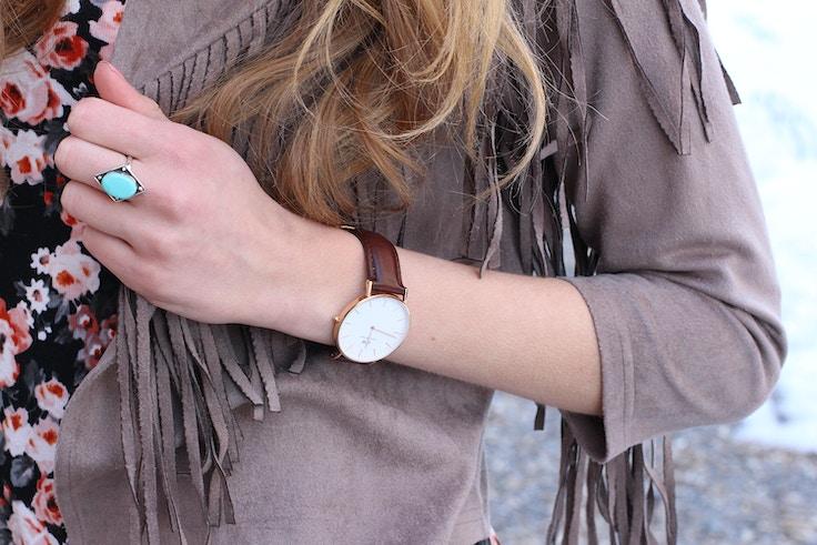 turquoise ring daniel wellington watch