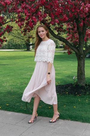 uniqlo pleated skirt (6 of 8)