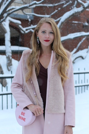 valentines day outfit zara pink coat