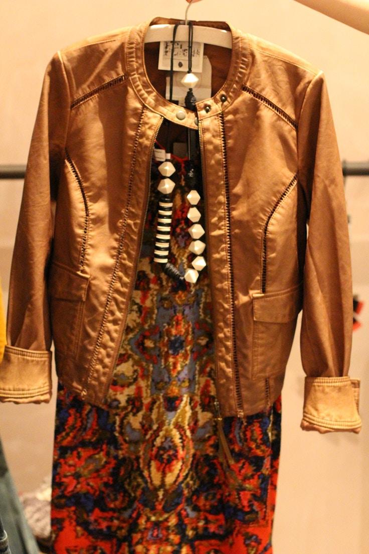 vegan leather anthro jacket