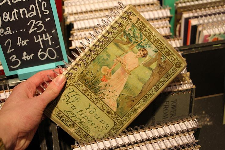 vintage book notebook
