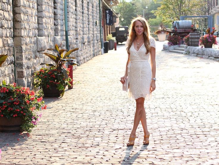 vintage style white lace dress zara