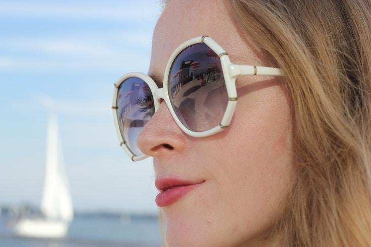 vintage white sunglasses