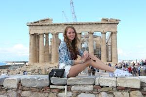 visit to athens acropolis parthenon minkpink shorts