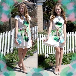 watercolour dress look