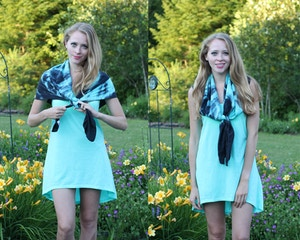 ways to tie a silk scarf