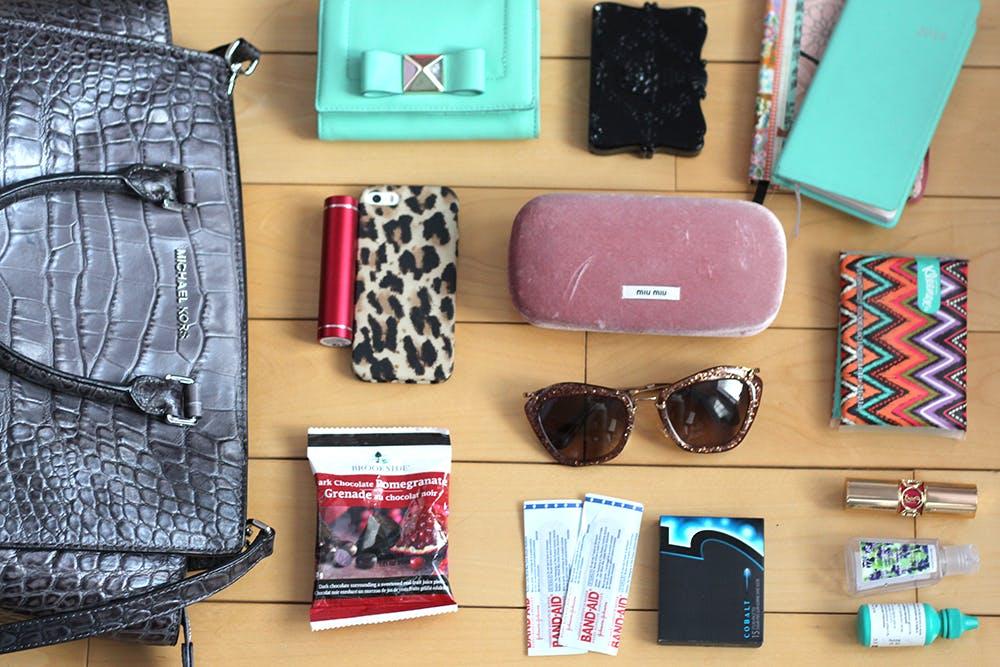 What's in my Fashion Week Handbag? Michael Kors Selma review