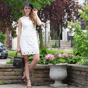 white lace dress queen's plate fashion