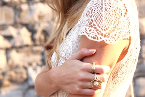 white lace shoulder detail