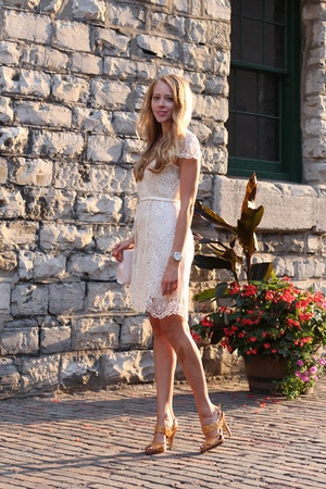 white lace zara dress