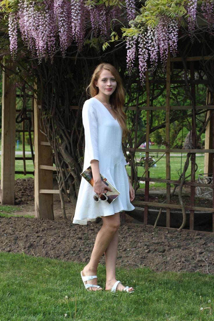 white memorial day dress