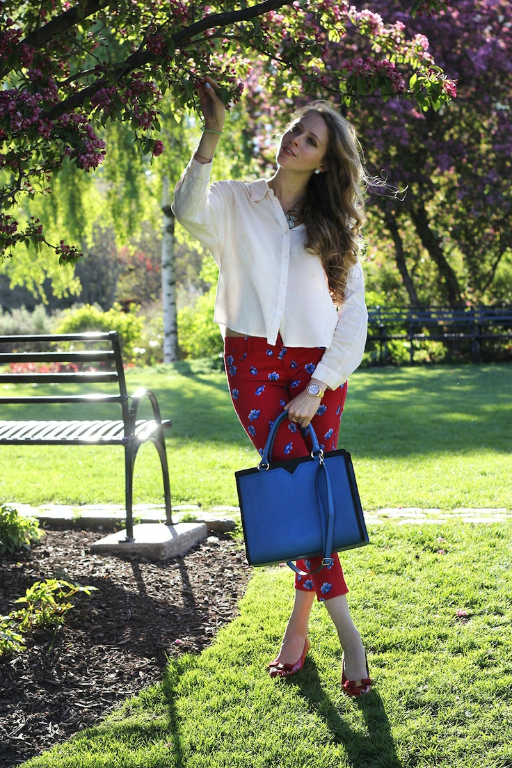 white red and blue outfit