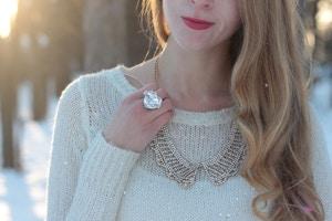 white sparkle sweater