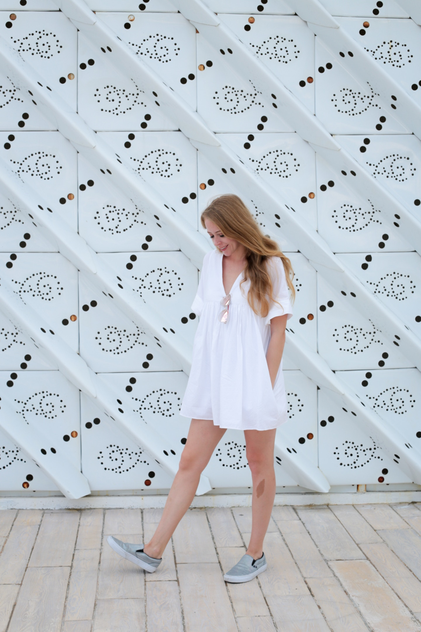 White & Holo Sneakers