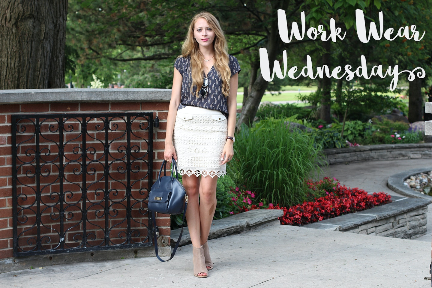 Workwear Wednesday: How to wear a lace skirt to the office