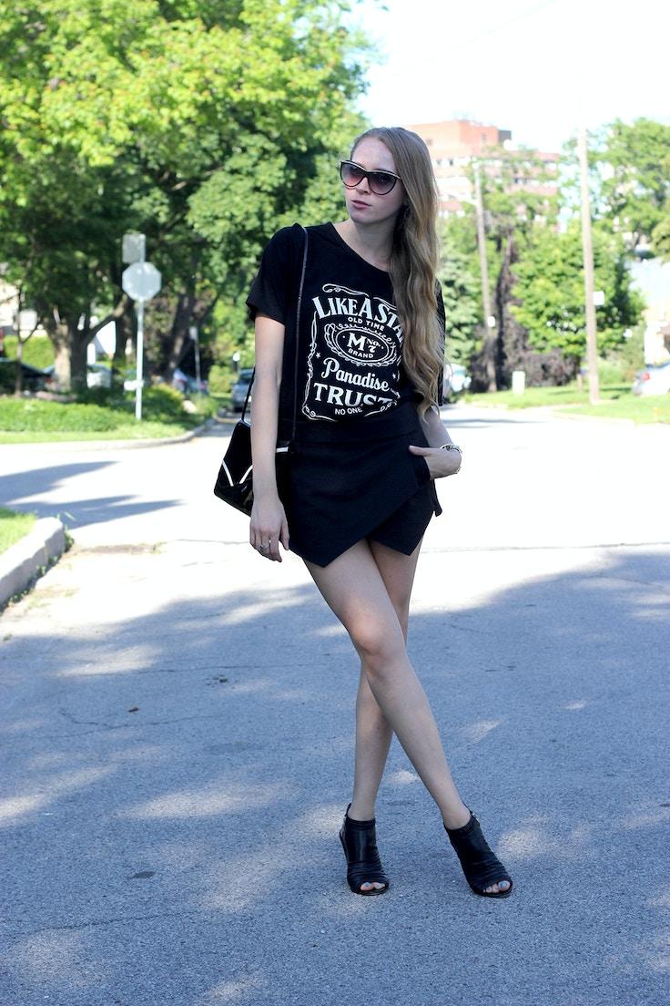 zara asymmetrical culotte short skort