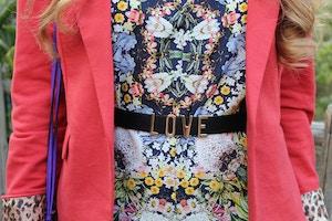 zara floral jumpsuit detail