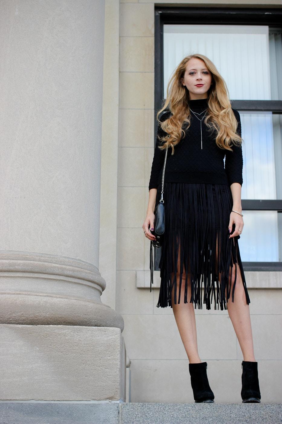 zara fringe skirt (1 of 10)
