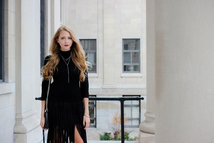 zara fringe skirt (2 of 10)