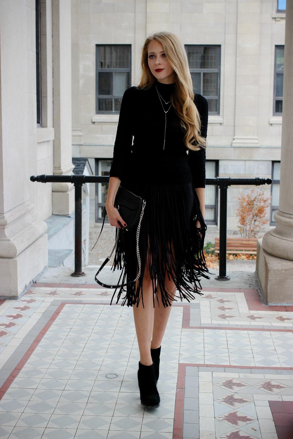 zara fringe skirt (7 of 10)