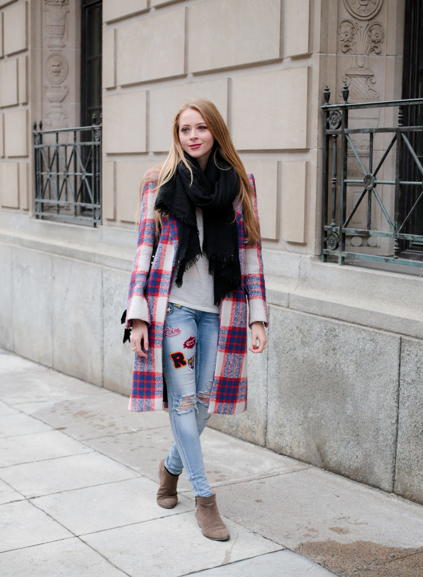 Plaid Winter Coat