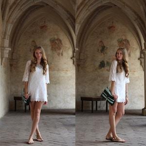 zvikov white lace dress