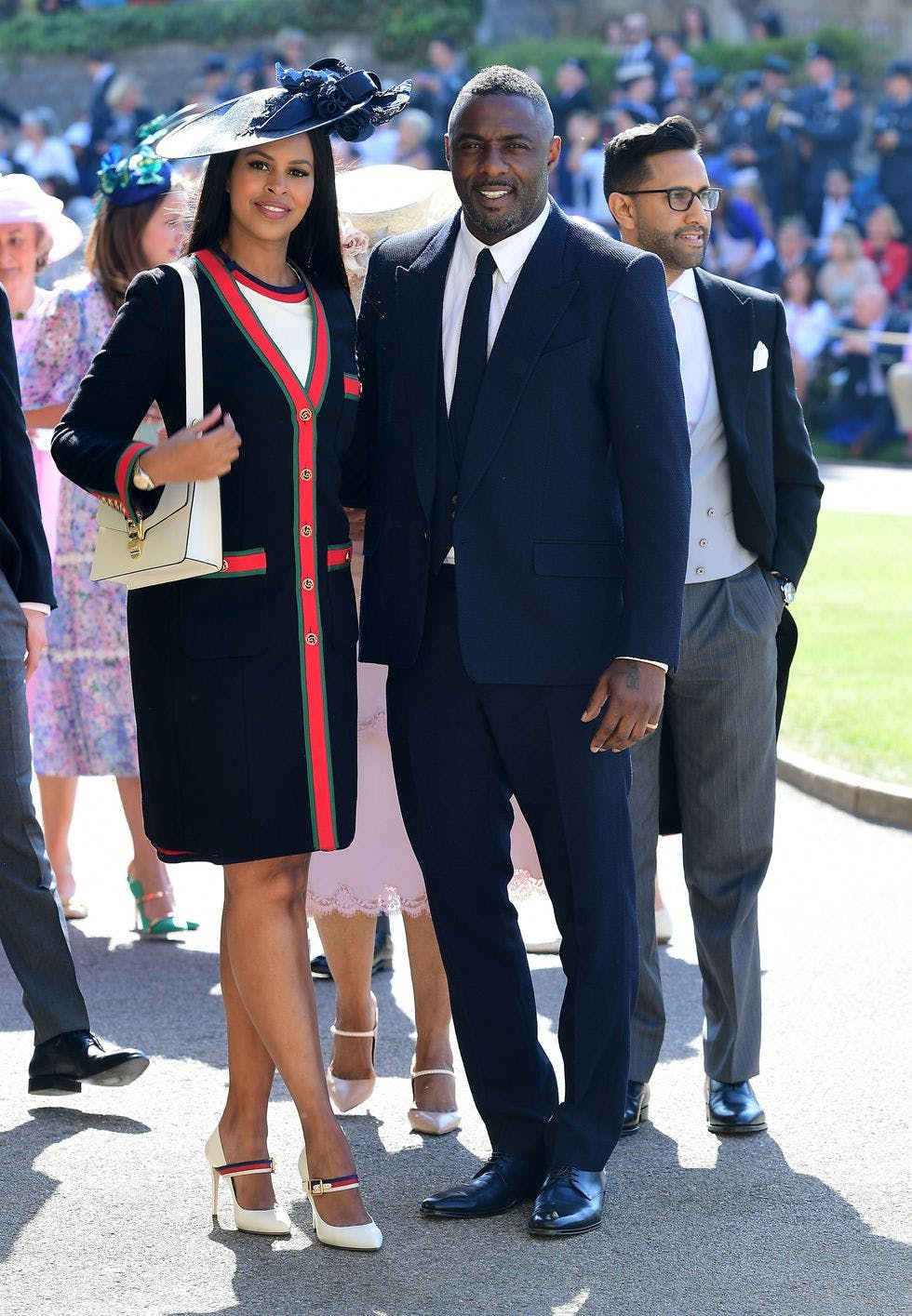 sabrina dhowre in gucci at the royal wedding
