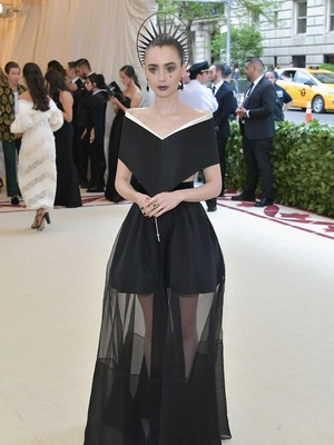 lily collins met gala Givenchy