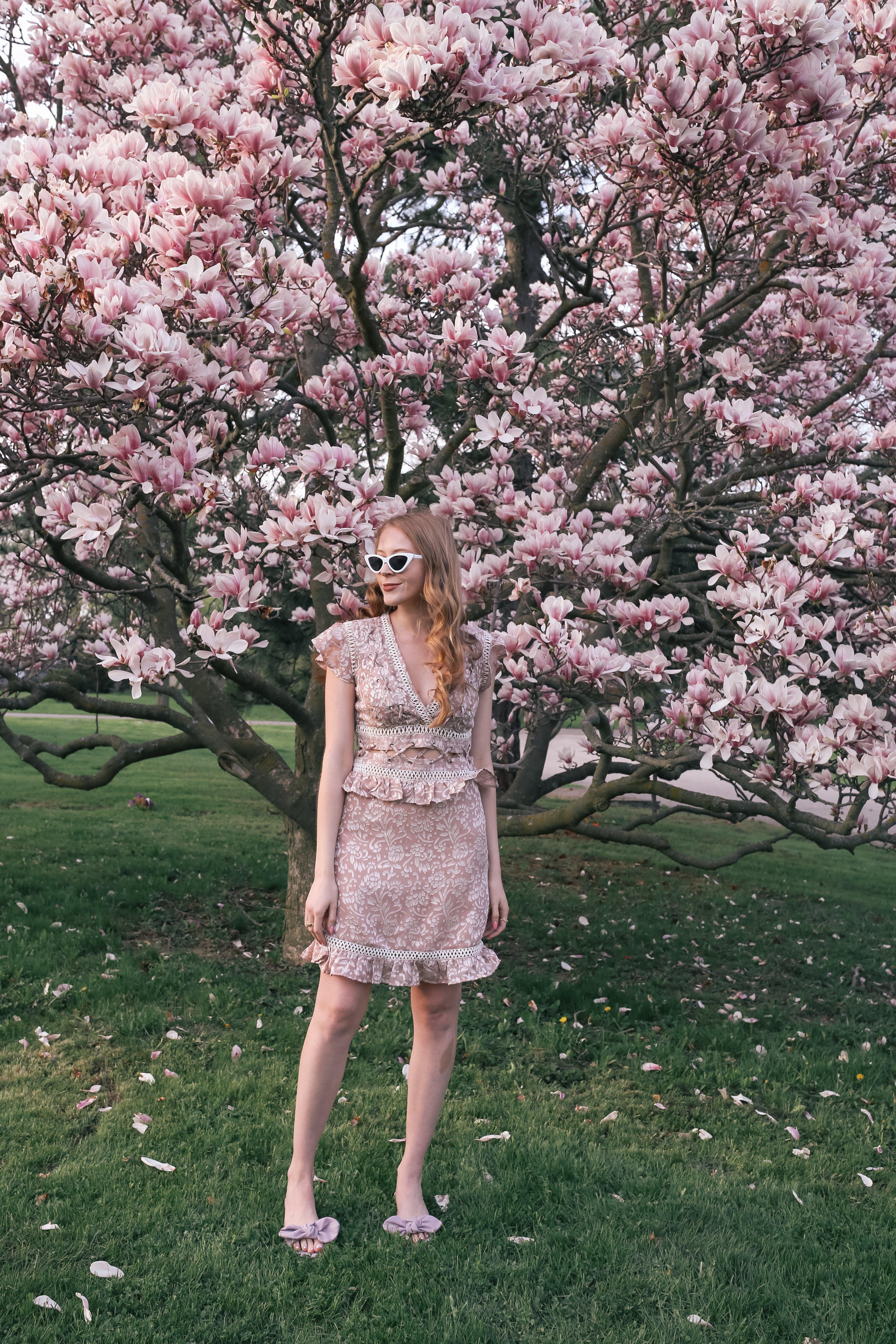 pink topshop dress for spring