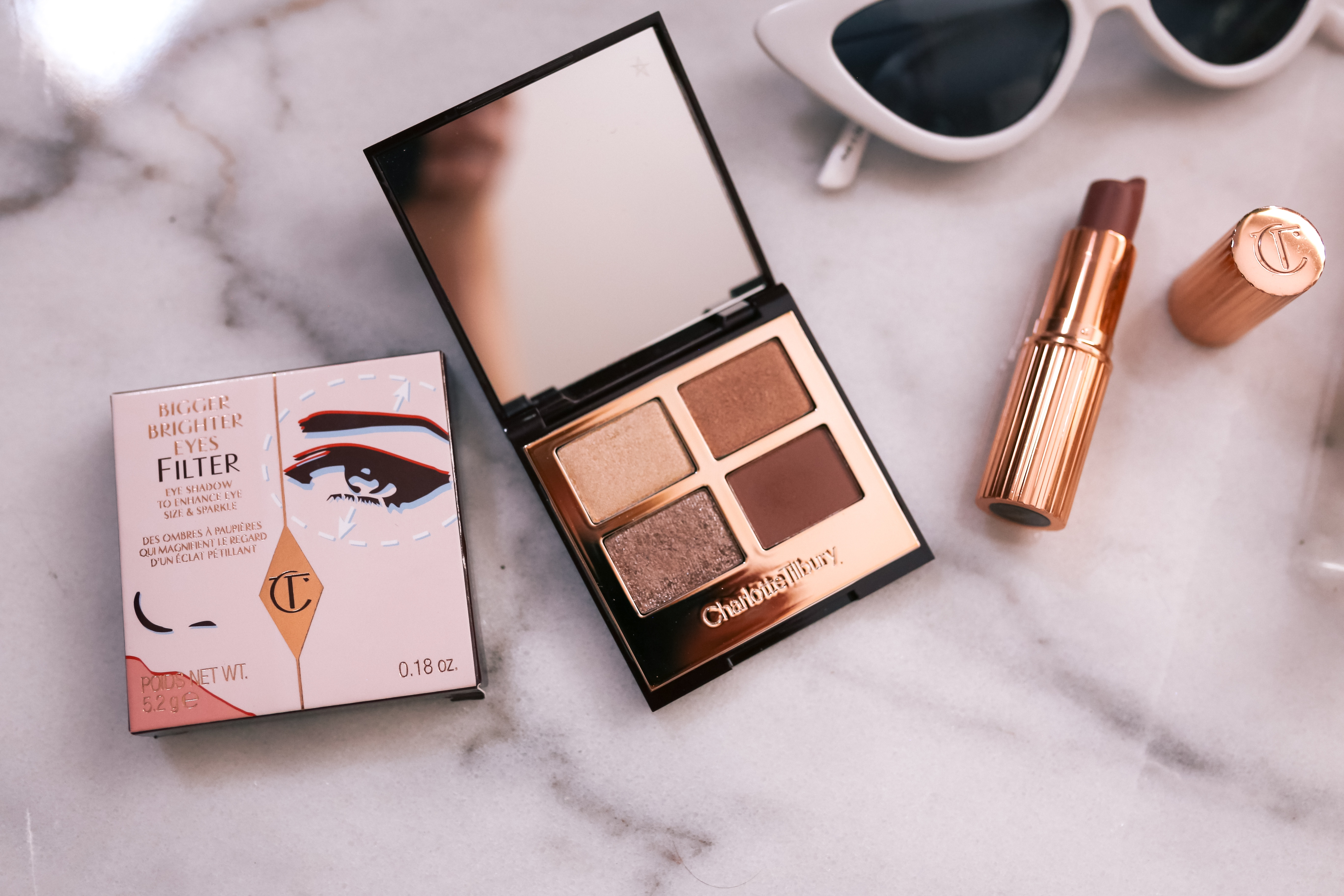 charlotte tilbury bigger brighter eyes Exagerr-Eyes palette review