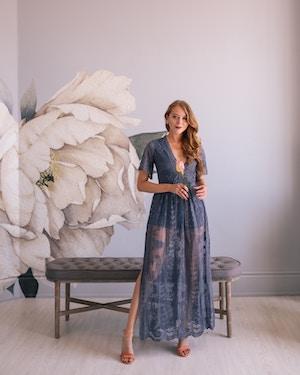 prom dress under $100 purple lace maxi (6 of 8)