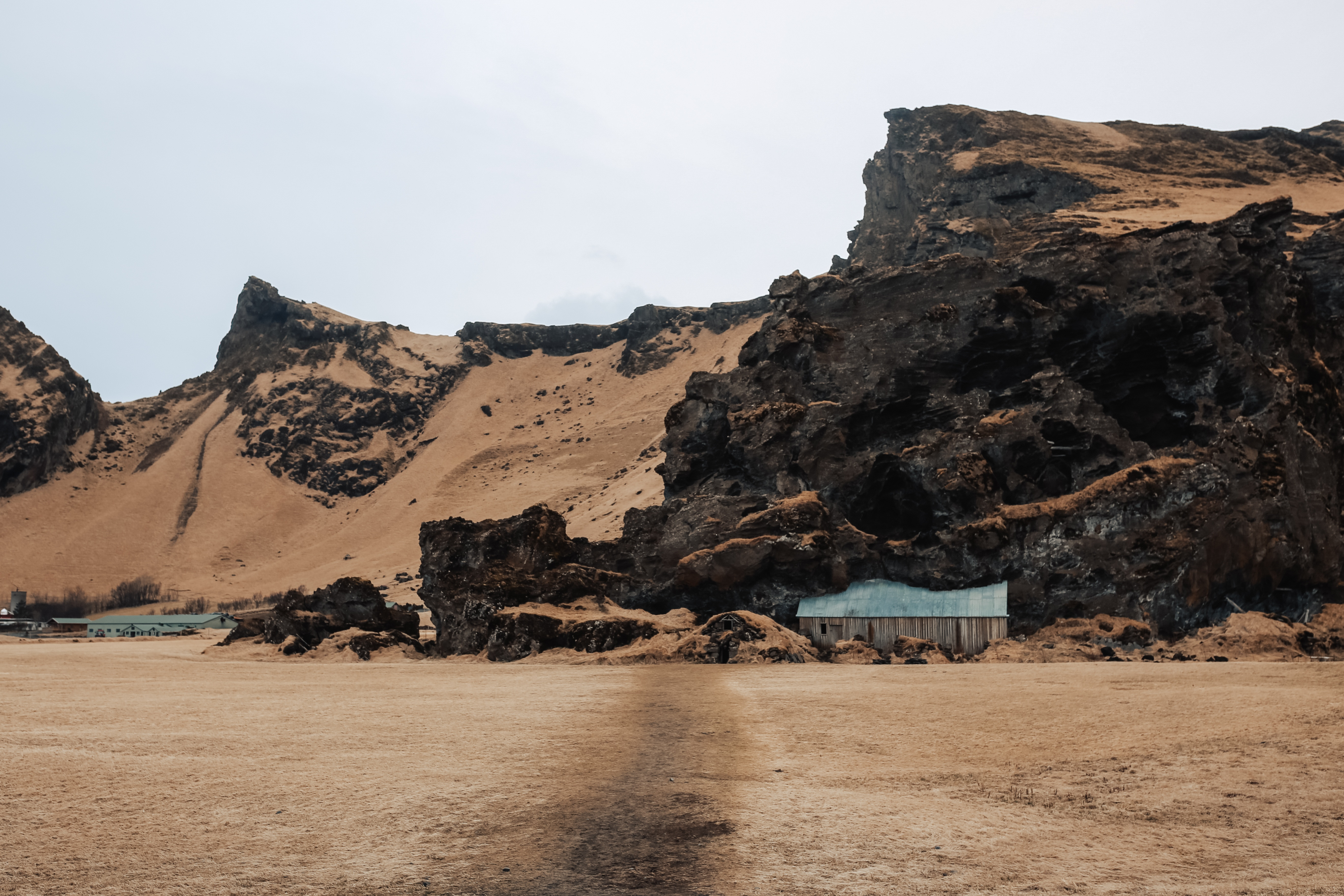 Troll houses in Iceland, on the way to Vik.