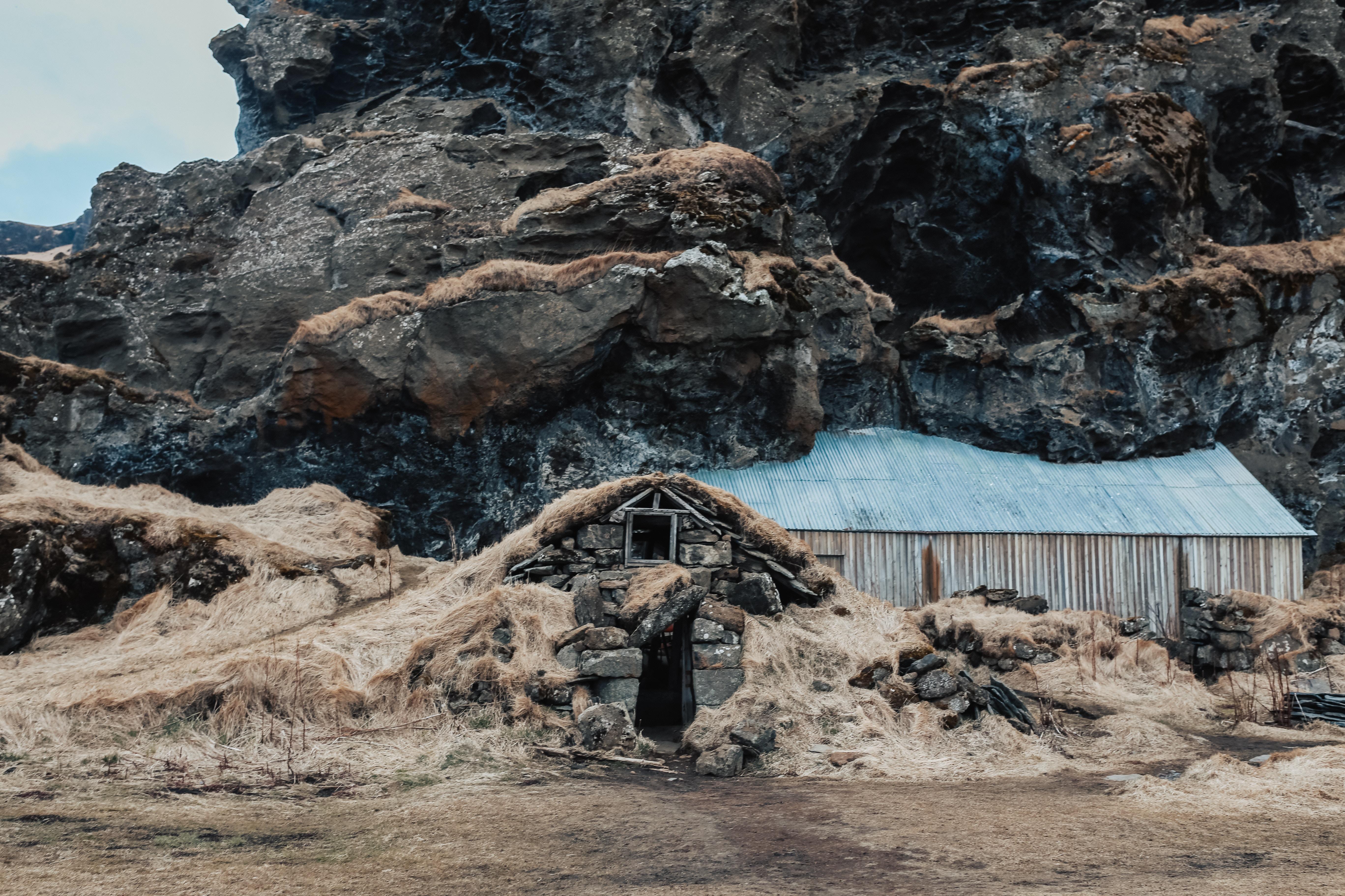 Troll house in Iceland near Vik