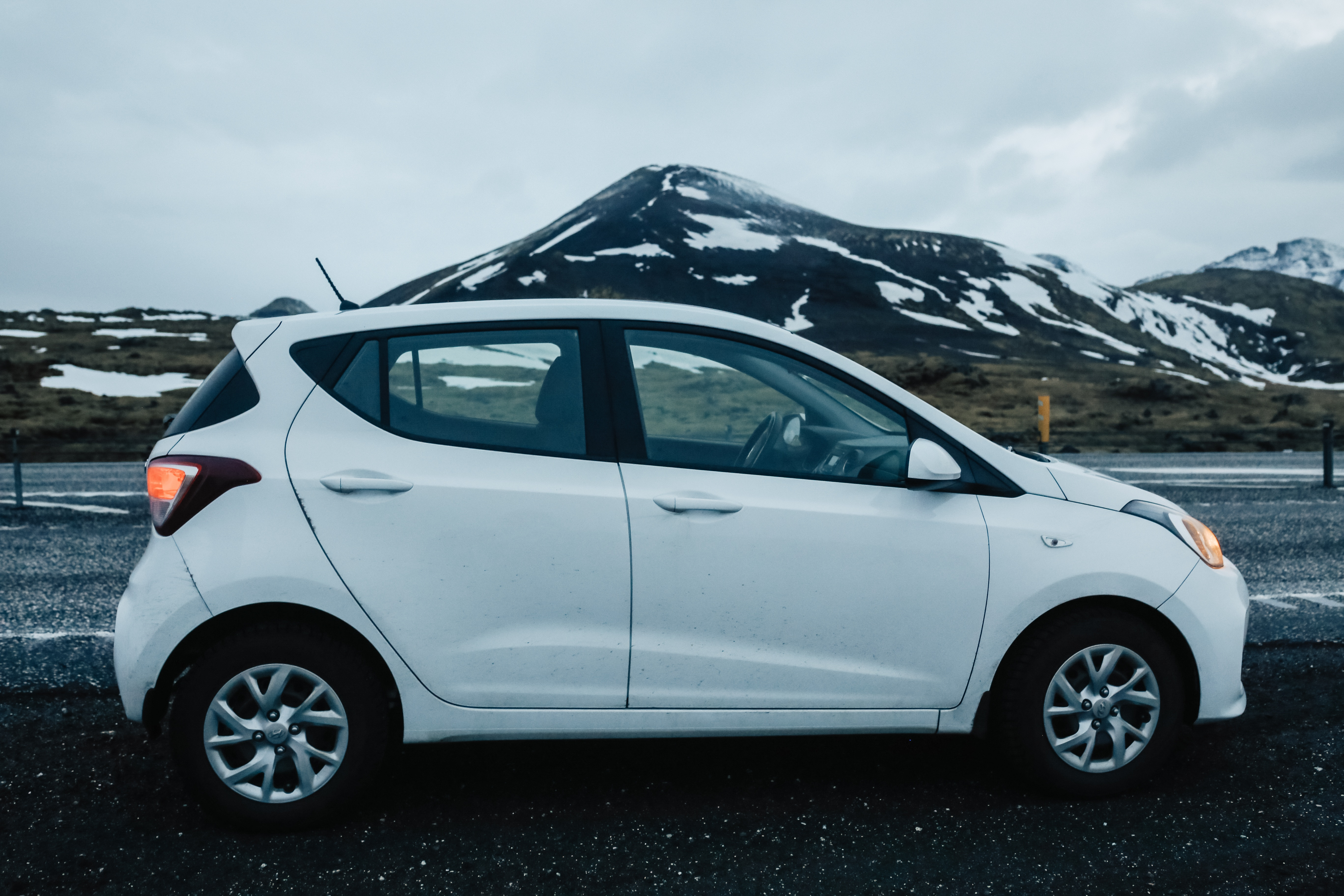 Our small rental car in Iceland