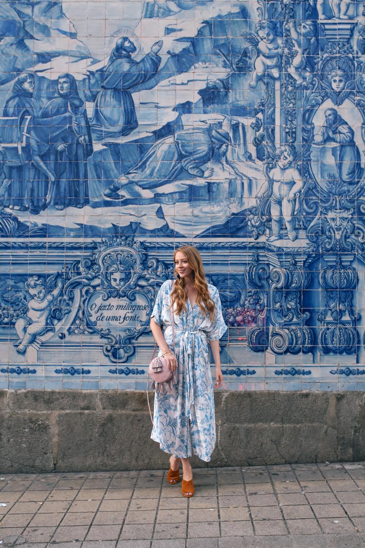 rua santa catarina azulejos blue tiles in porto