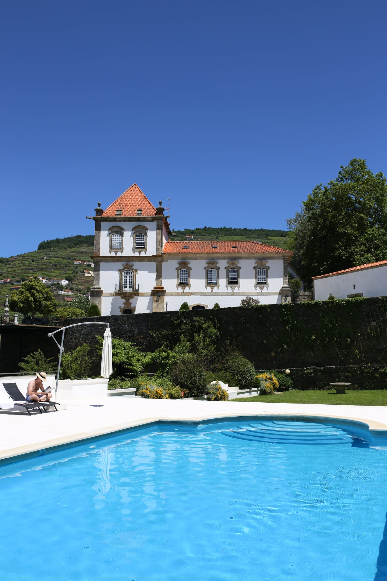 hotels in douro valley pool at casa das torres de oliveira