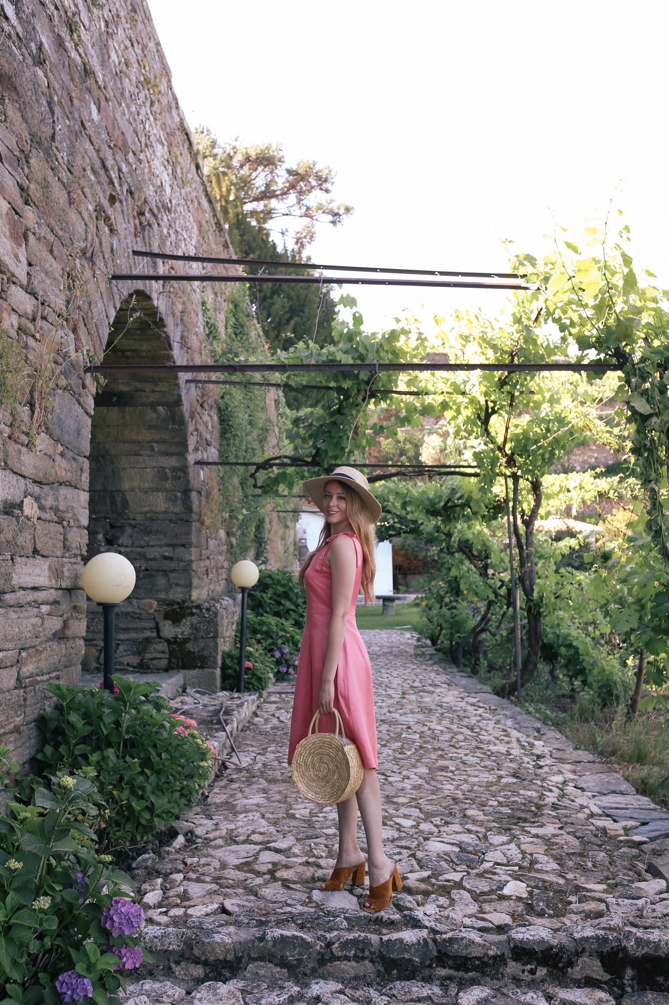 pink linen dresses for summer
