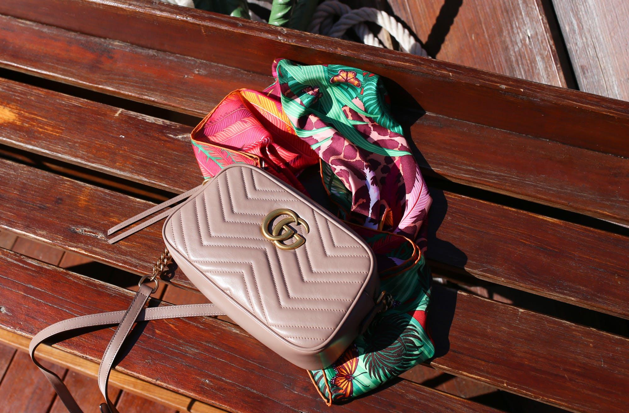 gucci marmont bag hermes jaguar quetzal print scarf