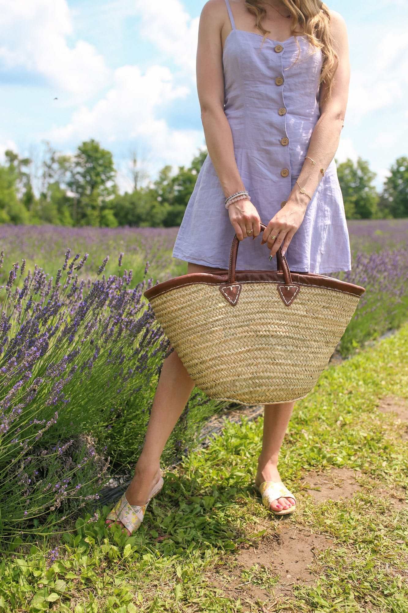 Straw market bag from Provence - perfect to visit a lavender field