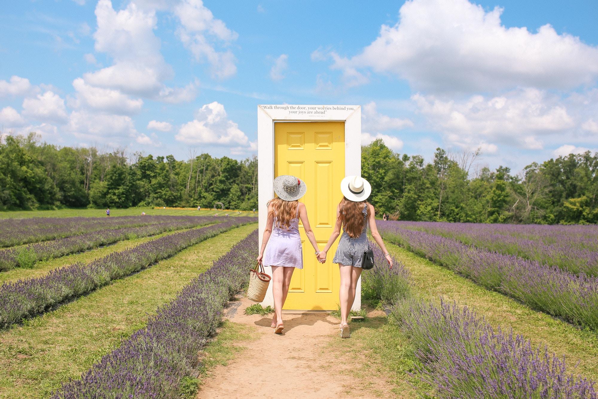 Natalie and Sasha Ast, sister bloggers from Toronto visit to Terre Bleu Lavender Farm