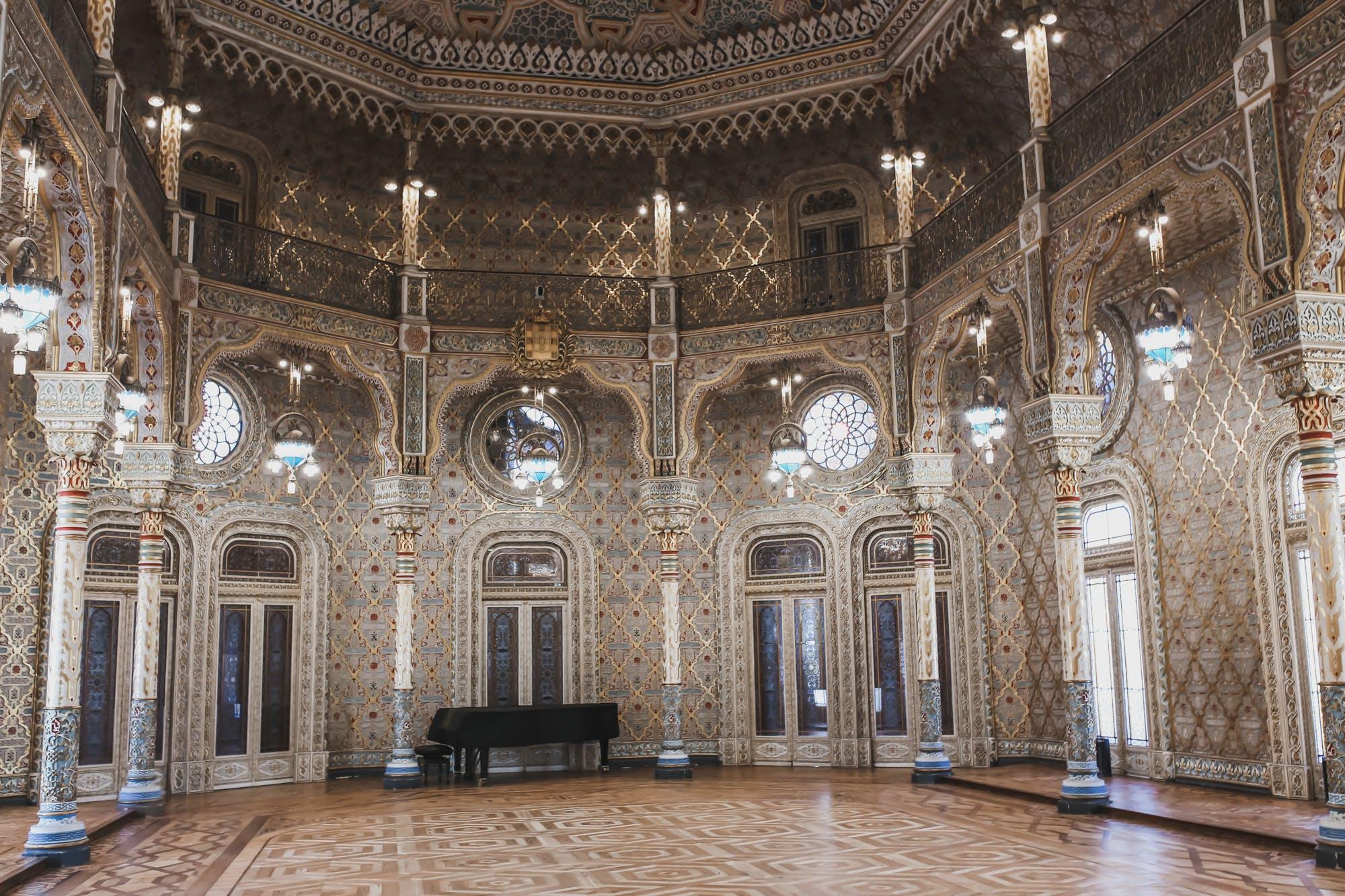 grand arab room in the palacio de bolsa