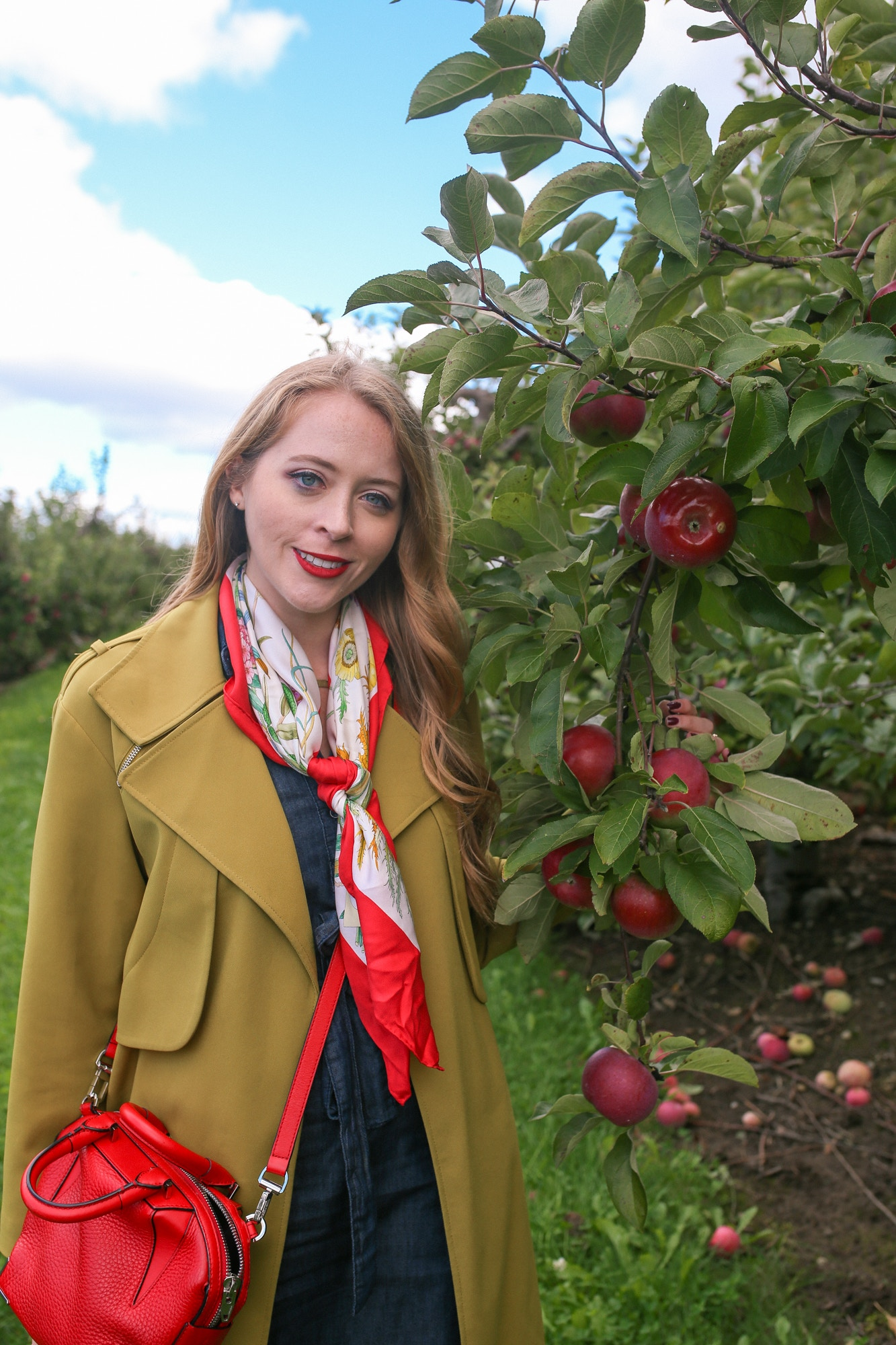 My vintage silk Gucci scarf is one of my favourite fall accessories. Layer it with a blazer or trench for a sophisticated look.