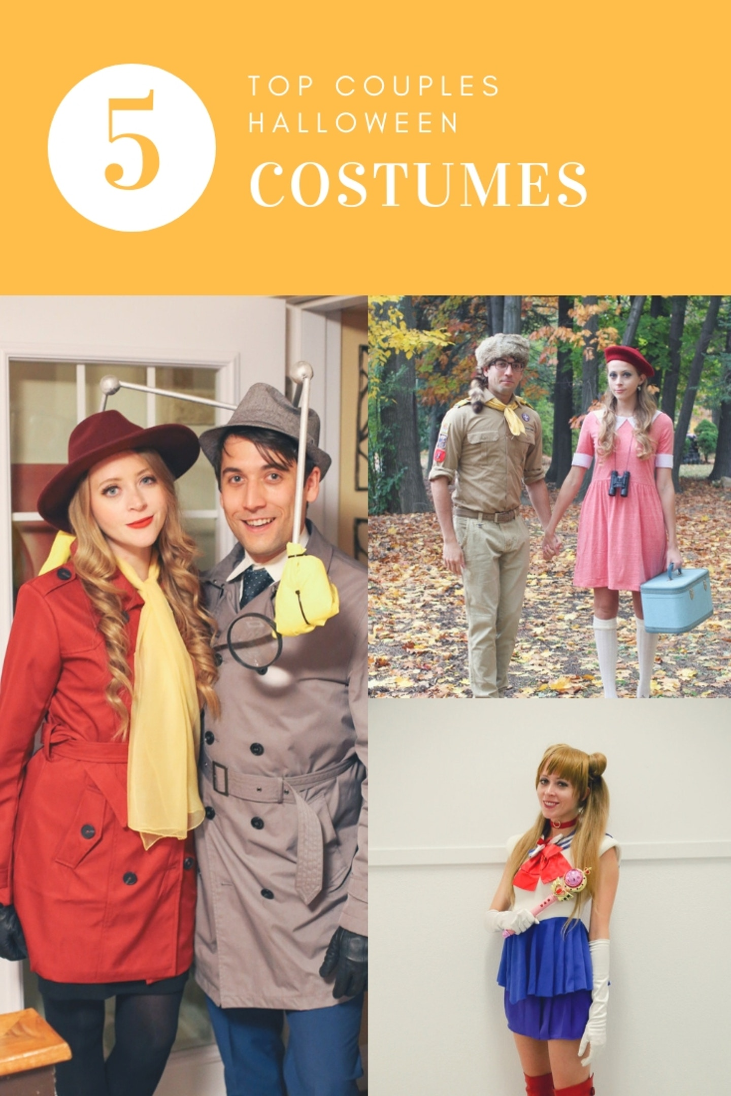 Top 5 Couples Halloween Costume Ideas: From Inspector Gadget and Carmen Sandiego to Moonrise Kingdom's Sam and Suzy, this blog post shares 5 unique couples Halloween costume ideas!