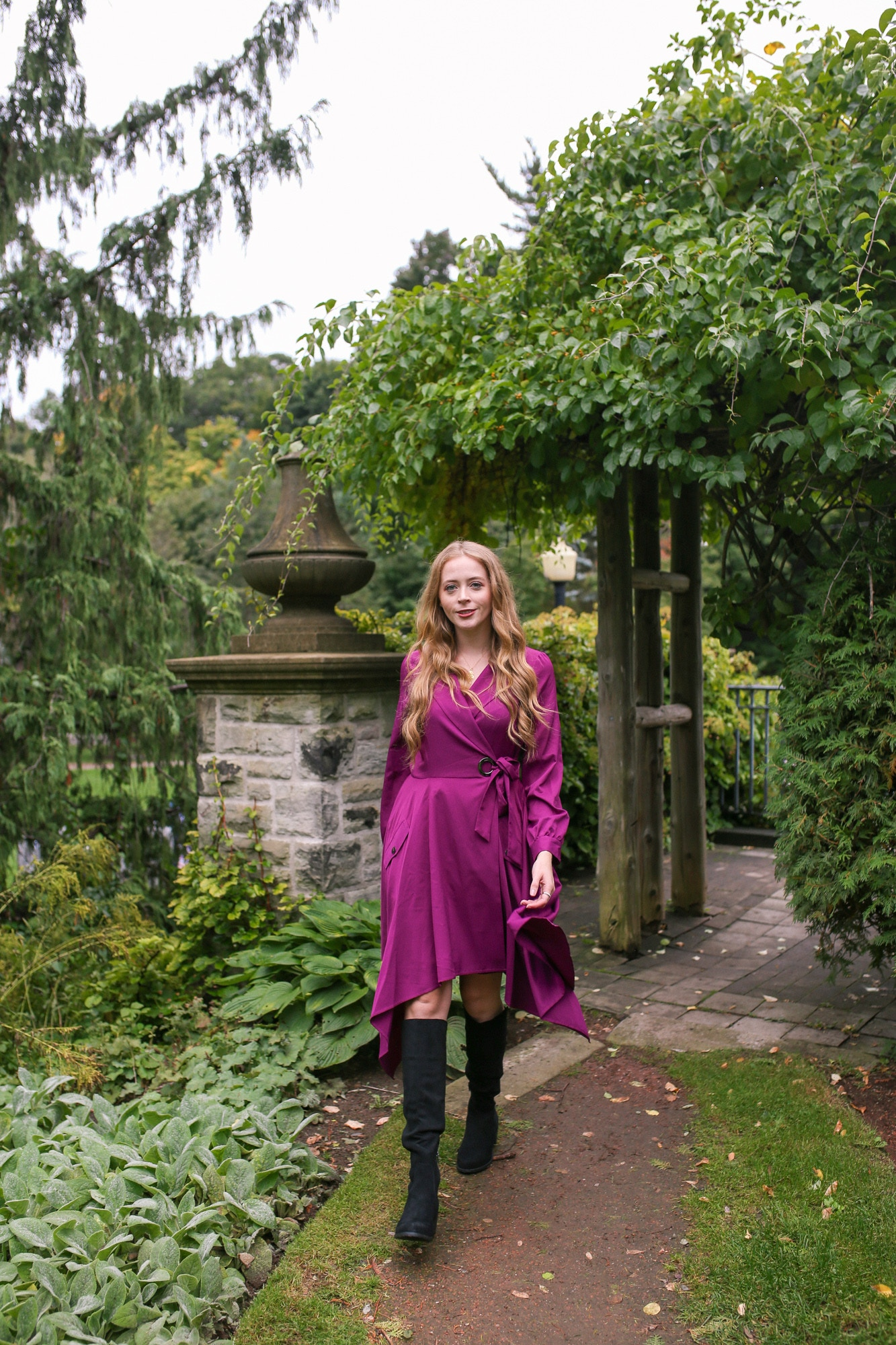 Chriselle Lim Collection Review: Wren Trench Dress and Unisa Indyia Over the Knee boots from DSW.