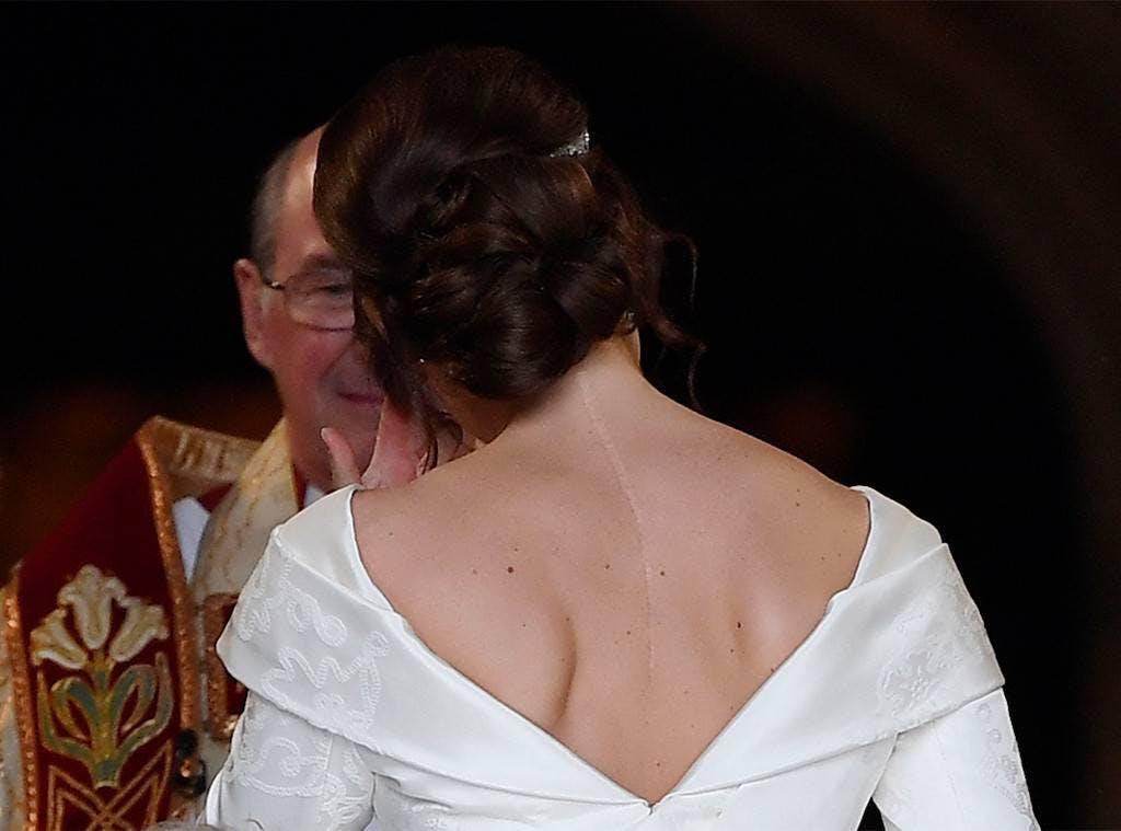 Princess Eugenie wedding hair style updo